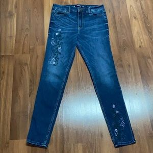 Hollister high rise embroidered jeans